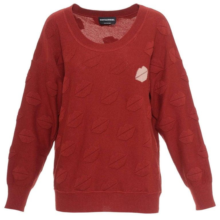 SONIA RYKIEL Lips Knit Sweater