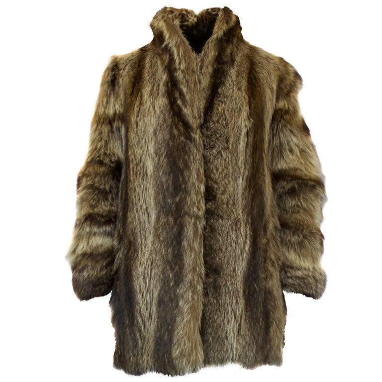 Yves Saint Laurent 1940s-inspired fur jacket. circa 1970