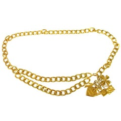 Chanel Gold Favorite Things Charm Statement Evening Chain Link Waist Belt