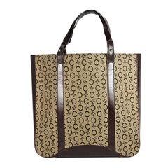 Brown Vintage Celine Monogram Tote Bag