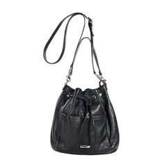 Black Coach Leather Bucket Bag