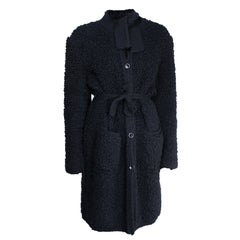 Sonia Rykiel Early knitted black wool coat, circa 1960s