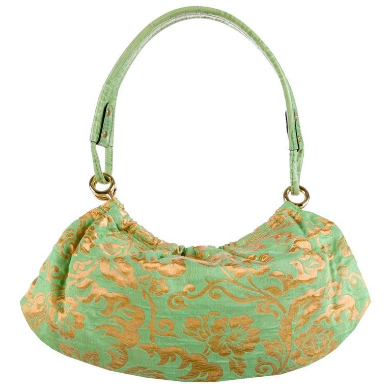 Kate Spade Green Brocade Evening Bag, Spring 2005 Collection
