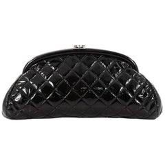 Chanel Timeless Clutch Quilted Patent