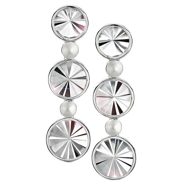 Antonio Bernardo Rock Crystal Prism Waterfall Earrings For Sale