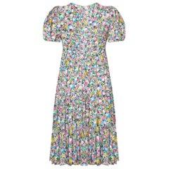 Ossie Clark for Radley Celia Birtwell Rare Bubble Print 1960s 1970s Smock Dress