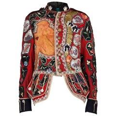 "Mr Moses unique""haute punk"" customised 1900s military service jacket.circa 2017"