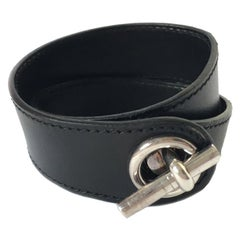HERMES Bracelet in Black leather
