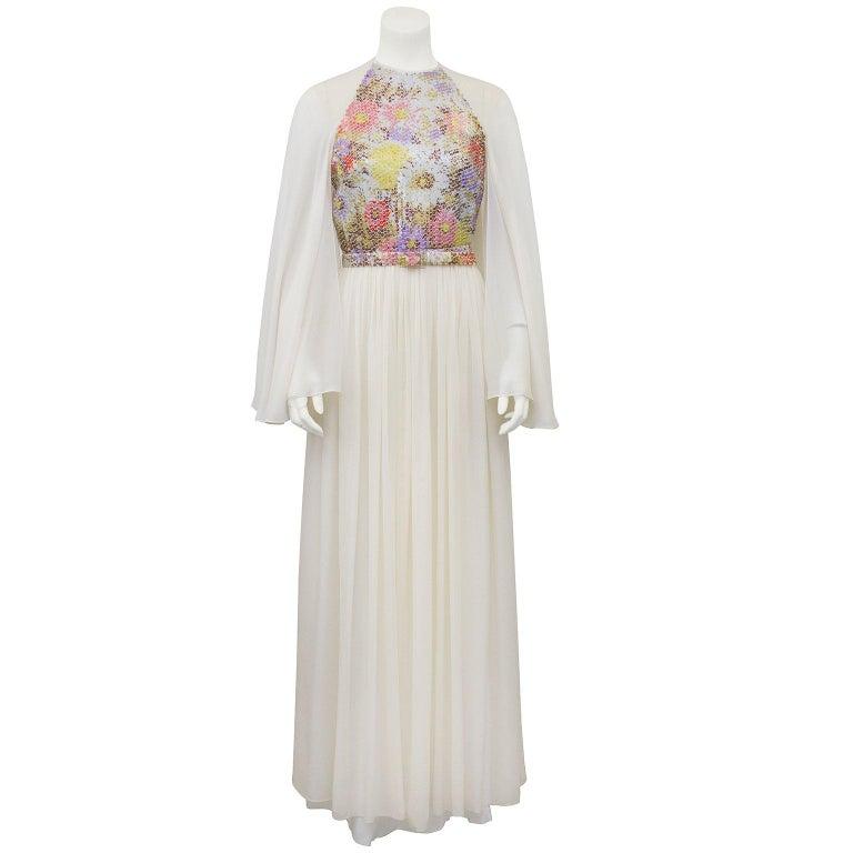 Saks Fifth Avenue Wedding Gowns: Saks Fifth Avenue Champagne Metallic Brocade Fox Trim Gown