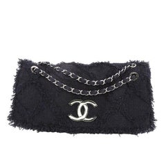 Chanel Nature Flap Bag Quilted Tweed Jumbo