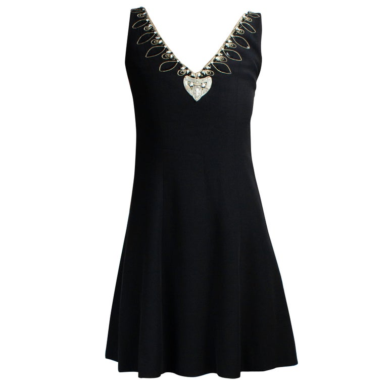 Christian Dior Celtic jewels Numbered crepe evening mini dress, circa 1994 For Sale