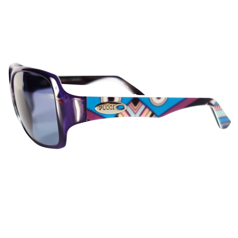 New Emilio Pucci Purple Logo Sunglasses