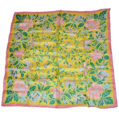 Liberty of London Multi-Color Multi-Floral Silk Scarf