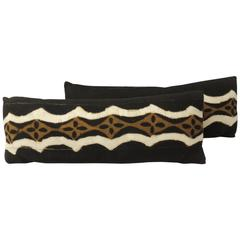Pair of African Mud Cloth Bolster Pillows