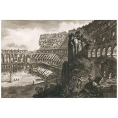 View of the Interior of the Colosseum by Francesco Piranesi, 1835