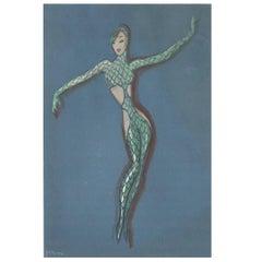 Mermaid Bodysuit Costume Illustration by José de Zamora