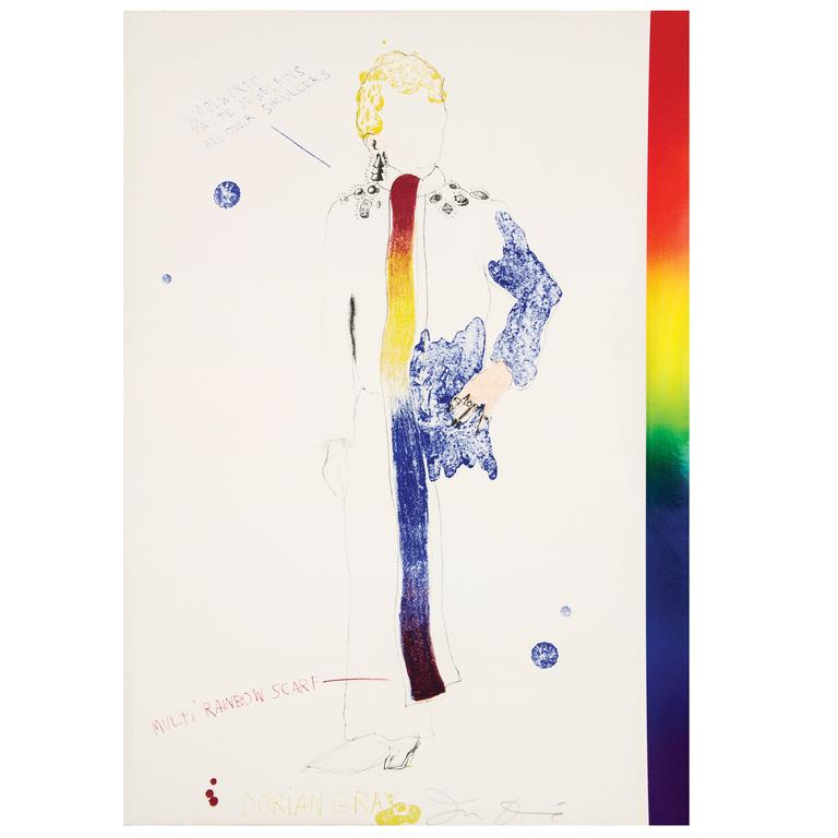 The Picture of Dorian Gray illustrated by Jim Dine.  A Working Script for the Stage from a Novel by Oscar Wilde.  Illustrated with 12 full-page colored lithographs, a full-page colored title, and hundreds of textual illustrations, notes and