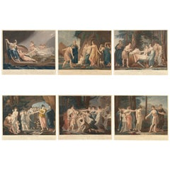 """The Adventures of Telemachus,"" Set of Six Color Engravings"