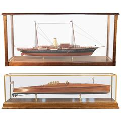 """Speeboat Dixie II Model and Steam Yacht """"Corsair"""" of 1930, Ship Model"""
