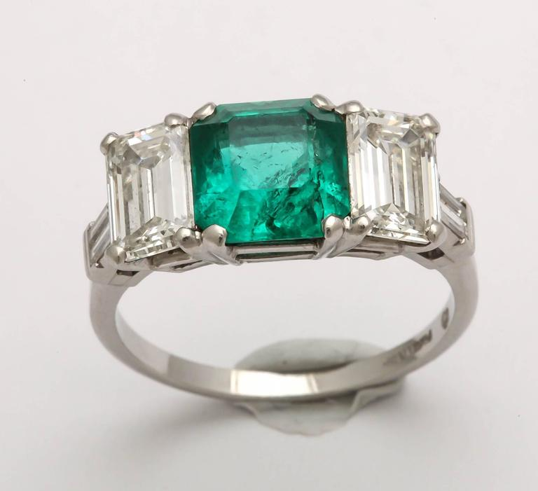deco emerald and ring for sale at 1stdibs