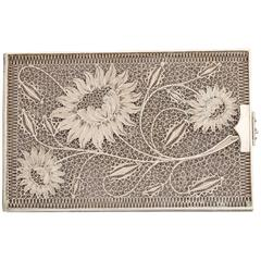 Sterling Silver Floral Filigree Card Case