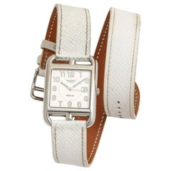 Hermes Cape Cod Automatic White Double Strap