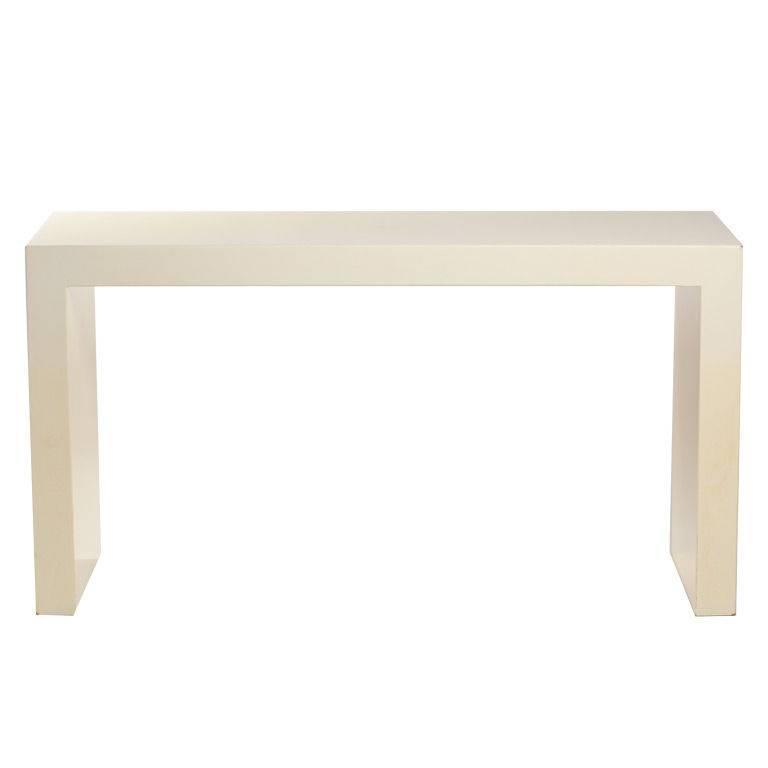 Custom Lacquer Parsons Console Table After Karl Springer
