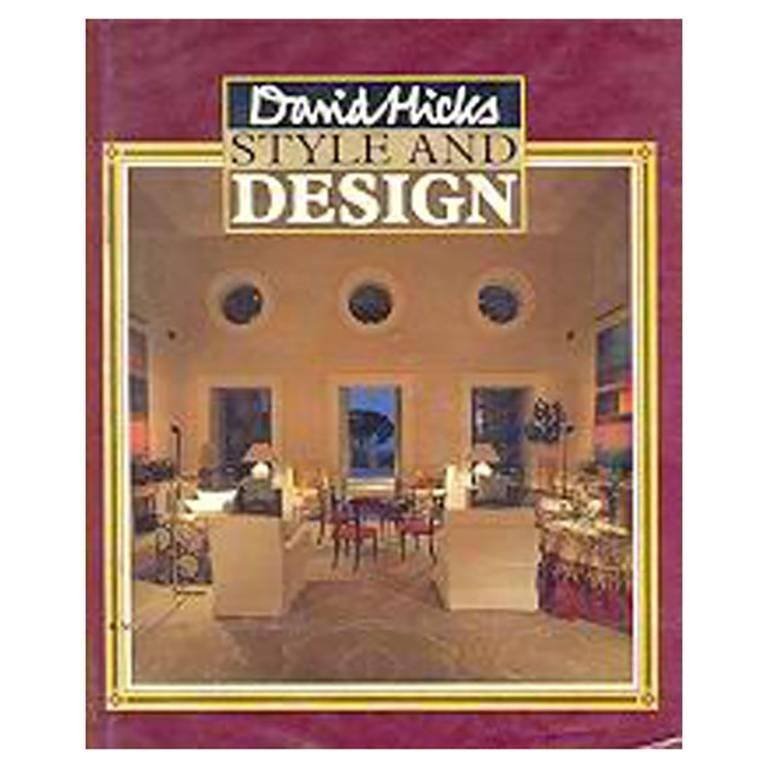 David Hicks Style and Design First Edition Book, 1987