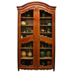 18th Century Provencal Cherrywood, Wire-Front Bibliotheque