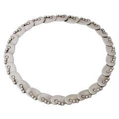 Hector Aguilar Taxco Sterling Silver Choker Necklace 1949