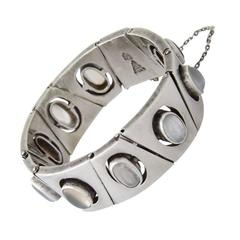 Antonio Pineda Sterling Silver Moonstone Bracelet 1960