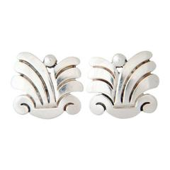 Hector Aguilar Sterling Silver Earrings 1940
