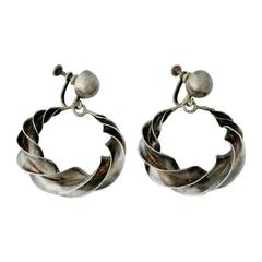 William Spratling Sterling Silver Earrings