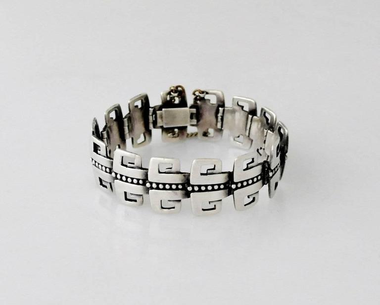Being Offered Is A Circa 1955 Bracelet By Margot De Taxco Of Mexico