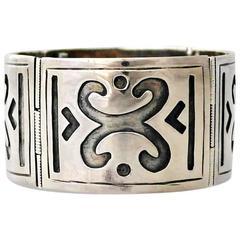 Bernice Goodspeed Sterling Silver Wide Link Bracelet