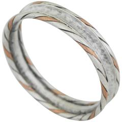 William Spratling Sterling Silver Copper Bangle Bracelet