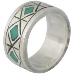 Los Castillo Turquoise Sterling Silver Ring