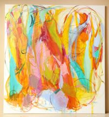 """Contemporary Painting """"Ludica Divinity"""" by Gabriela Tolomei."""