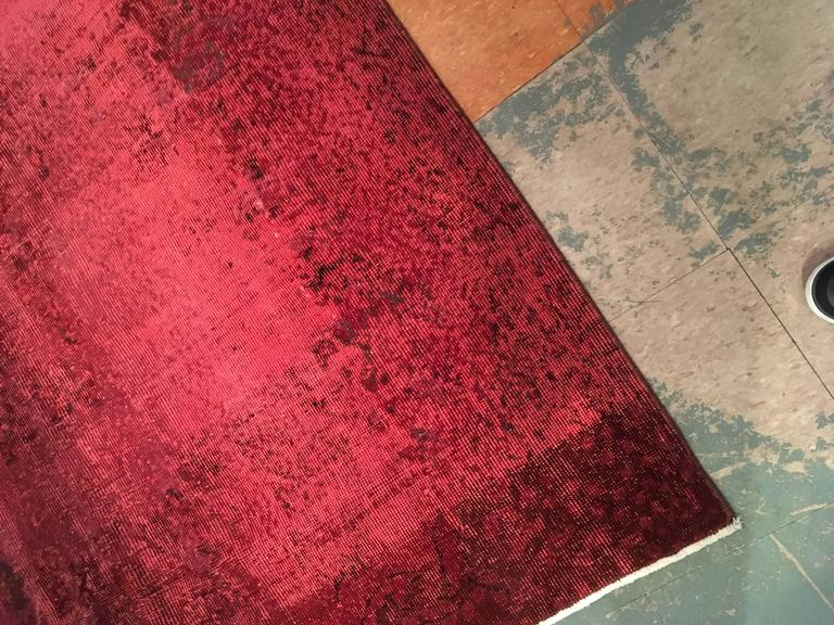 Vintage Red Overdyed Rug 3 2