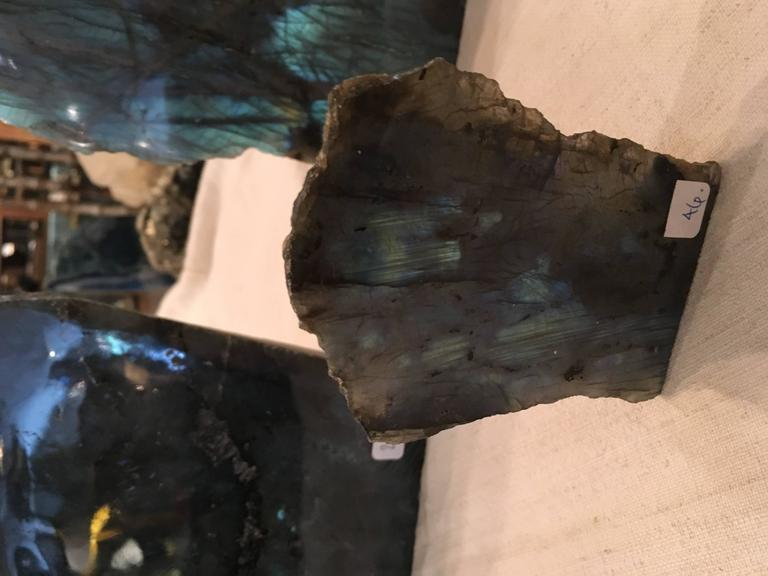 Group of Three Labradorite Specimens In Good Condition For Sale In Seattle, WA