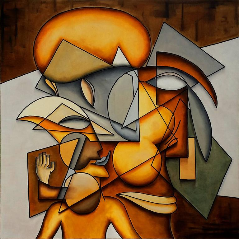 Alain Beraud Figurative Painting - La Paix