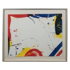 "Sam Francis ""Untitled"" from Portfolio 9 (L. L. 87) Lithograph in Colors, 1967"
