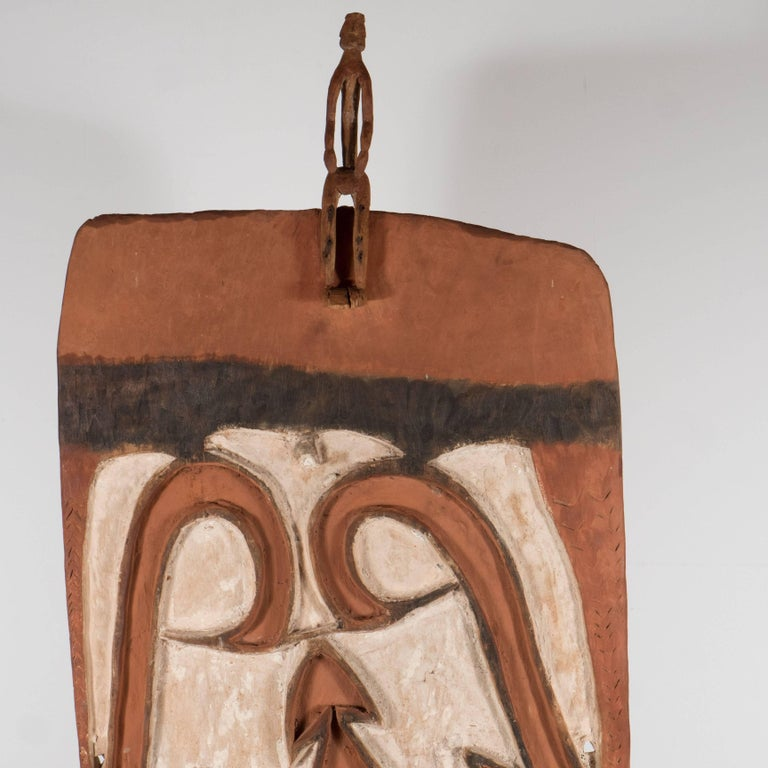 Impressive Papua New Guinea Shield, Late 19th Century - Brown Abstract Sculpture by Unknown