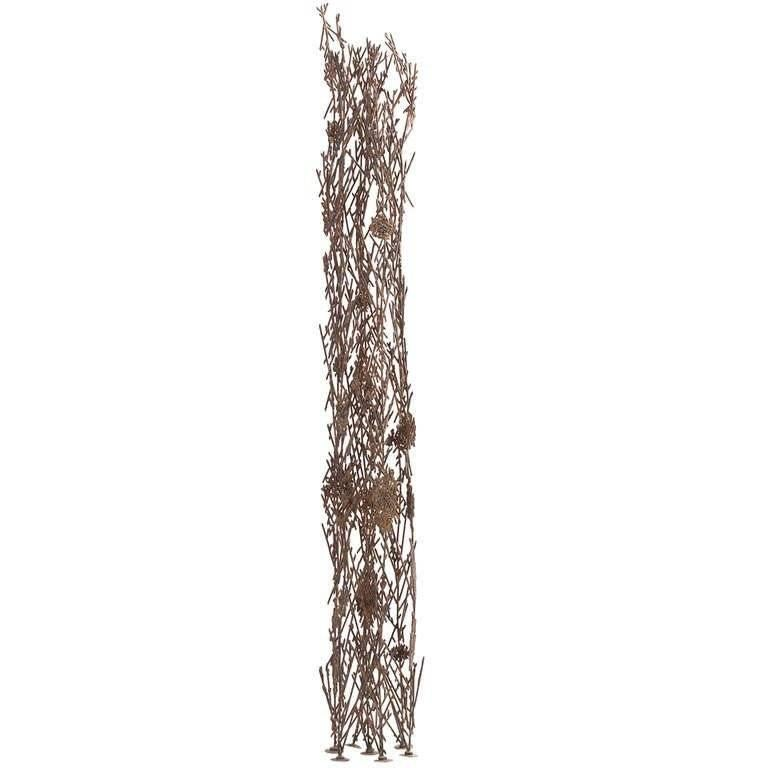 """Cast and hand-collaged sculpture of phosphor bronze and silver by Richard Filipowski (1923-2008), executed, circa 1960-1965. Titled """"Reed."""" Unsigned, with a certificate of authenticity from the Filipowski estate."""
