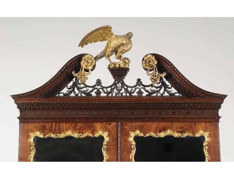 Period Chippendale Figured Mahogany Secretary Bookcase, circa 1765 In Excellent Condition For Sale In Essex, MA