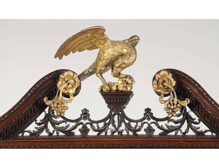 18th Century Period Chippendale Figured Mahogany Secretary Bookcase, circa 1765 For Sale