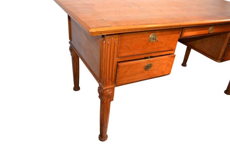 Oak Danish 18th Century Writing Desk By Royal Architect C. F. Harsdorff For Sale