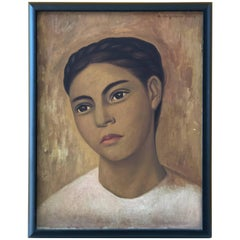 Oil on Canvas, Raúl Anguiano