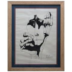 Lithograph, Oswaldo Guayasamin