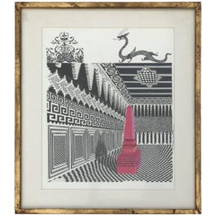 Red Obelisk and Black Dragon, Pedro Friedeberg